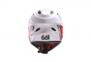 Casque Integral 661 COMP Noir Blanc Rouge