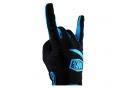 Paire de Gants Longs 100% Ridecamp Noir Bleu