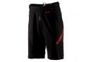 Short avec Peau 100% Airmatic Noir/Rouge