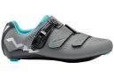 Chaussures Route Femme Northwave Verve 2 SRS Gris Bleu 2018