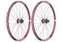Paire de Roues Spank 26'' SPIKE Race 28 | Axe 20x110mm - 12x135mm | Corps Shimano/Sram Rouge