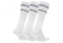 Nike SB Dry Crew Socks (3 Pairs) White Grey