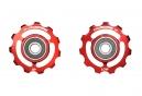 Galets CyclingCeramic Shimano 10/11v Rouge