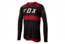 Fox Flexair Long Sleeves Jersey Rot Schwarz