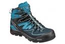 Chaussures de Randonnée Femme Salomon X Alp Mid LTR GTX Noir Bleu Turquoise