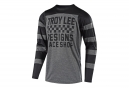 Maillot Manches Longues Troy Lee Designs Skyline Checker Gris Noir