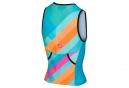 Débardeur Triathlon Femme Castelli 2018 Core 2 Bleu Orange