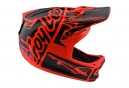 Troy Lee Designs D3 Fiberlite Factory Integralhelm Orange