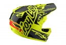 Troy Lee Designs D3 Fiberlite Factory Helmet Neon Yellow