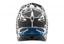 Troy Lee Designs D3 Fiberlite Factory Helmet White Grey