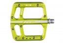 Paire de Pédales Plates HT Components AE06 Vert