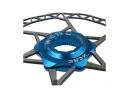 Adaptateur Centerlock KCNC AL6061 Bleu