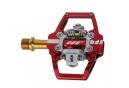 Paire de Pedales Automatique HT Components T1 Titane Rouge