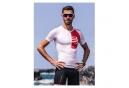 Maillot Manches Courtes Compressport Triathlon Postural Aero Blanc Rouge