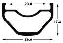 Roue Arrière Notubes Crest S1 29'' | Boost 12x148mm | Corps Shimano/Sram