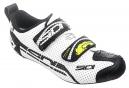 SIDI Paire de Chaussures Triathlon T4 AIR Blanc Noir