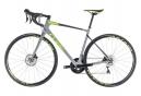 Vélo de Route Cube Attain GTC Race Disc Shimano Ultegra 11V 2018 Gris / Vert / Fluo