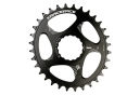 RaceFace Cinch Narrow Wide Direct Mount Chainring Oval Black 2018