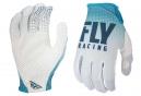 Gants Longs Fly Racing Lite Bleu Turquoise/Blanc