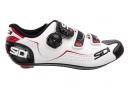 Paire de Chaussures Route SIDI 2018 ALBA Blanc Noir Rouge