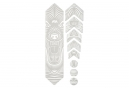 All Mountain Style Honeycomb 9 pcs Frame Guard Kit - Wolf White