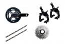 Groupe FSA K-Force WE | 11 vitesses | Pédaliers 172.5mm | Cassette 11-28 Dents (Partie mécanique)