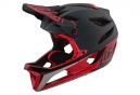 Troy Lee Designs Stage Race Full Face Helmet Matte Black Glossy Red