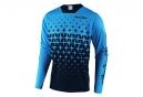 Troy Lee Designs Sprint Megaburst Long Sleeves Jersey Ocean Blue Navy Blue