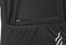 LeBram Allos Short Sleeves Jersey Black Adjusted Fit (2 pockets+Zip)