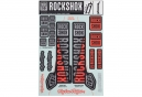Kit Stickers Fourche RockShox 35mm - Troy Lee Design Argent / Orange