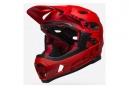 Casque avec Mentonnière Amovible Bell Super DH Mips Rouge/Noir 2020