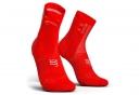 Paire de Chaussettes Compressport Pro Racing V3.0 Ultralight Bike Rouge