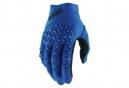 Paire De Gants 100% Airmatic Bleu Noir