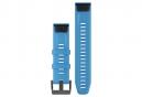 Garmin QuickFit 22 mm pulsera de silicona azul cian