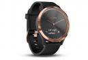 Garmin V vomove HR Smartwatch Rose-Gold con banda de silicona negra