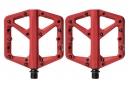 Paire de Pédales Plates Crankbrothers STAMP 1 Rouge