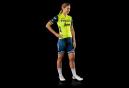 Kurzarmtrikot Damen Trek von Santini Team Trek-Segafredo Replica Yellow