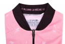 Maillot Manches Courtes Femme LeBram Peguere Rose Coupe Ajustée