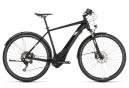 Bicicleta Híbrida Eléctrica Cube Cross Hybrid Race 500 Allroad 700 Noir / Blanc