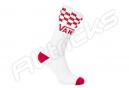 Chaussettes Vans Checker Crew Blanc / Rouge