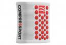 Bandeaux Poignet Compressport Sweatbands 3D.Dots (Paire) Blanc Rouge