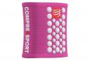 Bandeaux Poignet Compressport Sweatbands 3D.Dots (Paire) Rose Blanc