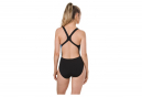 Speedo IllusionWave Placement Powerback Womens One Piece Swimsuit Black