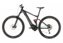 Cube Stereo Hybrid 120 Pro 500 Electric Full Suspension MTB Shimano Deore 10S 29'' Plus 2019 Iridium Grey Red