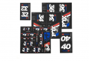 Fox Racing Shox Stickers Heritage 2019 Red/White/Blue