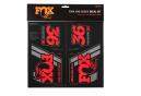 Kit Stickers Fox Racing Shox Heritage Rouge