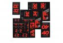 Fox Racing Shox Stickers Heritage 2019 Red