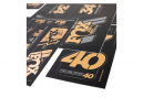 Fox Racing Shox Stickers Heritage 2019 Gold