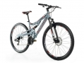 VTT Tout-Suspendu Moma Bikes EQX 29'' SHIMANO 24V Argent