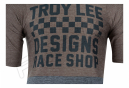 Maillot Manches Courtes TROY LEE DESIGNS Skyline Air Checkers Noir Moka